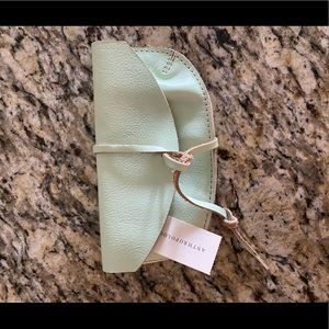 Anthropologie leather sun glass case